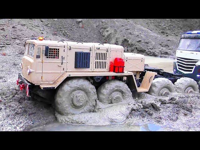 Big RC Adventure! Strong MAZ 537 In Water & Mud! Big new RC Vehicles 2019 In Action!
