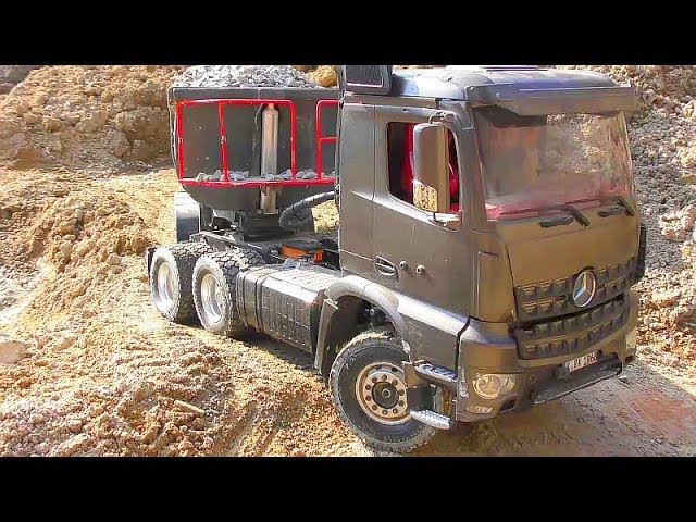 RC TRUCKS AND VEHICLES! AROCS 6 X 6! GRÖßTE RC BAUSTELLE! COOL RC TRACTOR! VOLVO LOADER L250G