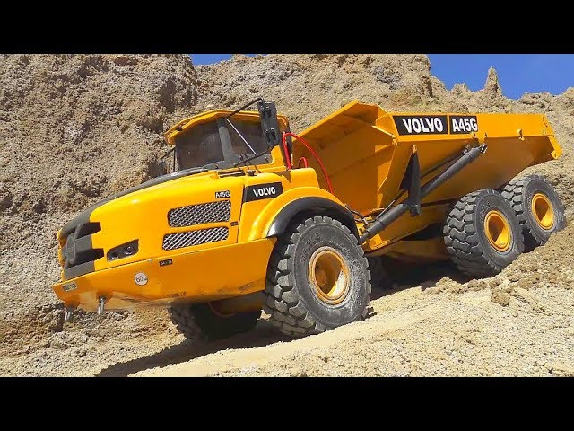 RC VEHICLES! RC TRUCKS! CONSTRUCTION MACHINES! VOLVO A45G! LIEBHERR EXCAVATOR R970