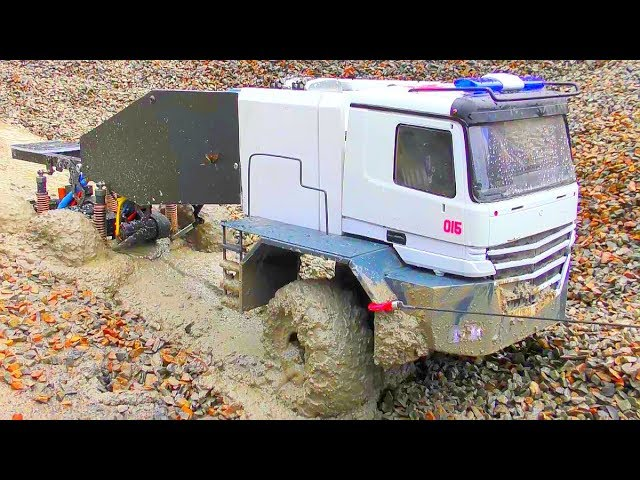 RC Spintires! Coole RC Action with the MAZ 537! New RC Buffalo Truck! Asombroso rescate de hombre parte 2