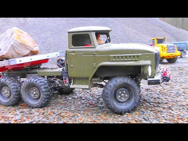 RC Volvo L250G with Special Tires for Mud and Gravel! Tamiya Globe Liner 6×6 heavy Work!