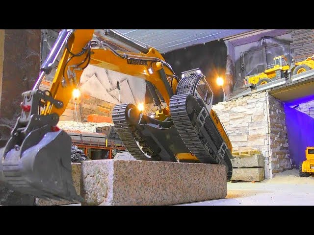 RC LIEBHERR R970 SME AT WORK, AMAZING KOMATSU HD 405 Действий! Rc 2019
