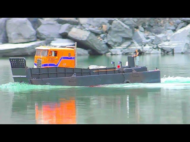RC LCM 3 TRUCK RESCUE! HEAVY RC VEHICLES WORK AT THE LUCAS RIVER! FANTASTIC RC ACTION 2019