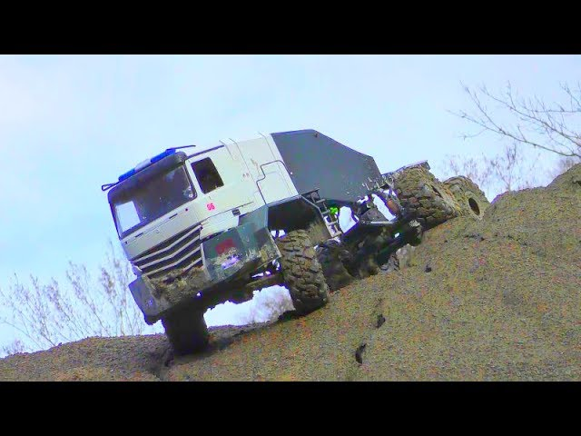 COOL RC OFFROAD WITH THE MAZ 537 Y EL HOMBRE 6 X 6! RC VEHICLES IN MUD! COOL ADVENTURE 2019