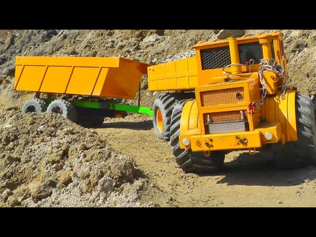 STUNNING RC ACTION WITH THE KIROVETS K-701A ! STRONG VOLVO LOADER! BIGGESET RC CONSTRUCCIÓN ZONA