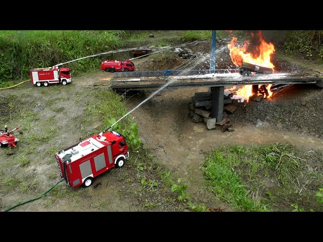 RC HORRIBLE  FIRE ACCIDENT🔥RC TANK TRUCK ON FIRE🔥RC LIVE ACTION CRASH! HUGE EXPLOSION1
