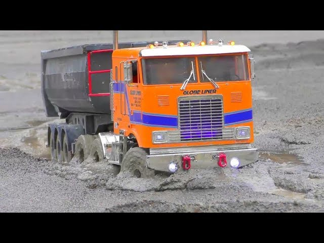 COOL RC CONSTRUCTION VEHICLES! RC WORK IN MUD AND WATER! TRUCKS 2019