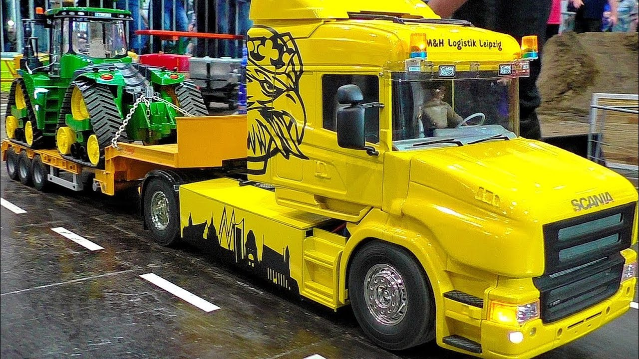 STUNNING RC SCALE 1:16 MODEL TRUCKS IN MOTION ON A FANTASTIC PARCOUR