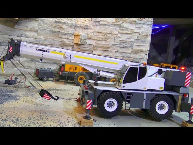 RC MOBILE CRANE TRUCK LRT 1100-2.1! UNIQUE SELF MADE RC MOBILE CRANE! COOL RC MODELS 2019