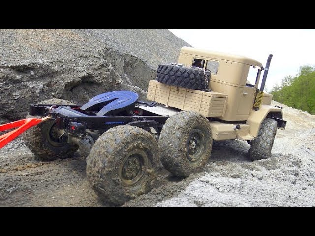 HEAVY RC CRASH! COOL RC TRUCKS IN MUD AND WATER! HUGE RC CONSTRUCTION SITE! STRONG VEHICLES