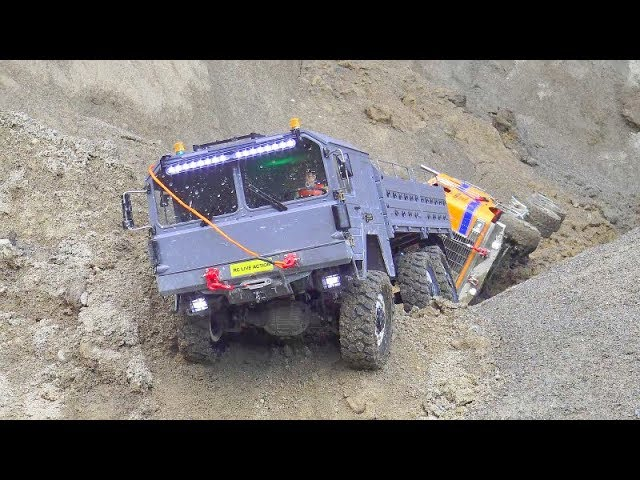 CROSS RC MC 6 IN ACTION! TAMIYA TRUCK 6×6 DRIVE IN WATER AND MUD! COOL RC CARS IN ACTION