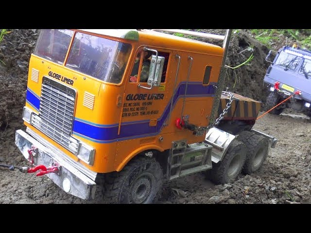 STRONG RC VEHICLES AT THE NEW CONSTRUCTION SITE! MAZ 537 AND  MC 6 IN ACTION! COOL TAMIYA TRUCK