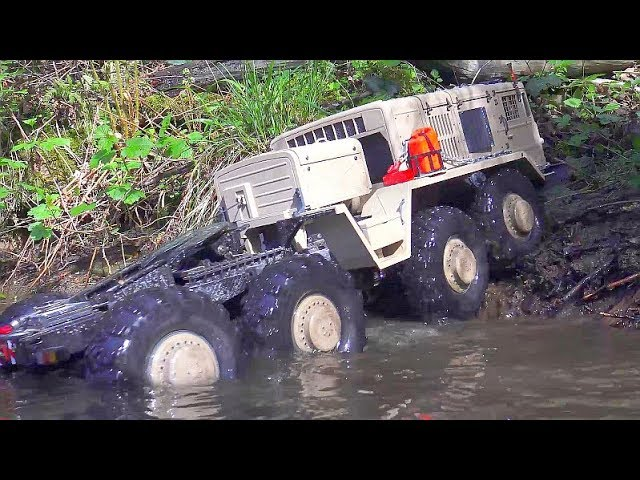 RC MAN and MAZ 537 River Drive! Cross RC Vehicles in deep Water! Maz 537 Rc
