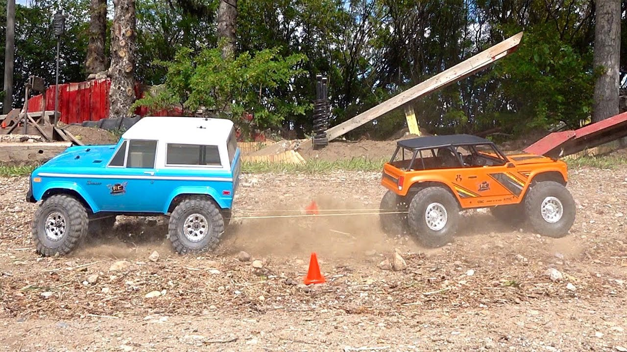 "MAGNET and ROPE CHALLENGE ""Follow Buddy"" – Drive 2 Trail Trucks at the Same Time 