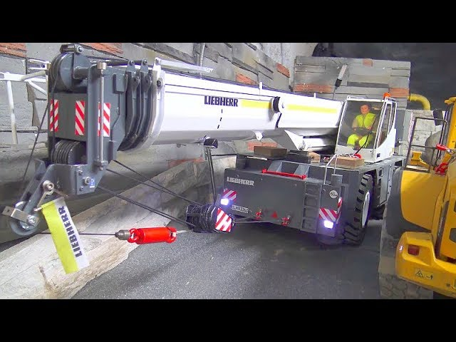 CRANE ACCIDENT 2019, LIEBHERR LTM 1055 RC CRASH INTO A BIG HOLE, LRT 1100-2.1, HEAVY TRUCK RESCUE