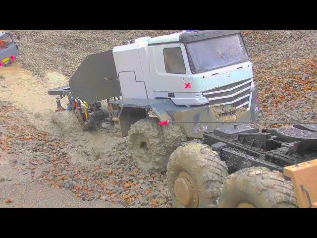 MAZ 537 G IN ACTION, FANTASTIC BUFFALO 6X6 TRUCK! BEST RC VEHICLES WORN IN MUD, MC& STUCK