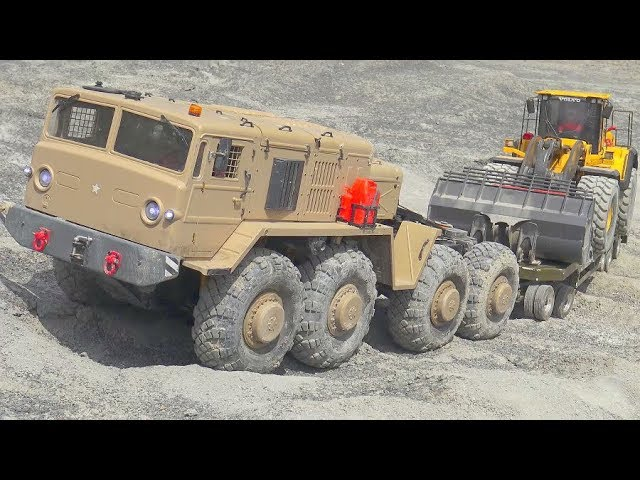 STRONG RC VEHICLE 8×8, MA3 537 RC, BEST OUTDOOR RC MACHINES, VOLVO, TAMIYY, KOMATSU TIPPER IN MOTION