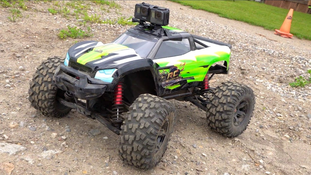 NEW GoPro HERO 7 Stabilisation de BLACK vs héros 6 Black on a Traxxas XMaxx 8S TRUCK | AVENTURES RC