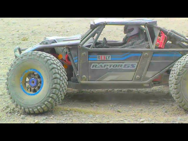 REELY RAPTOR EXTREME! 100 KM/H + WITH 3000 WATT BRUSHLESS! HEAVY TUNED RC RAPTOR DRIVE AT THE GRAVEL