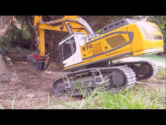 R970 SME LIEBHERR EXCAVATOR, RC WOODCUTTER SPECIAL, HEAVY LIEBHERR DIGGER EQUIPMENT, STRONG RC TOYS