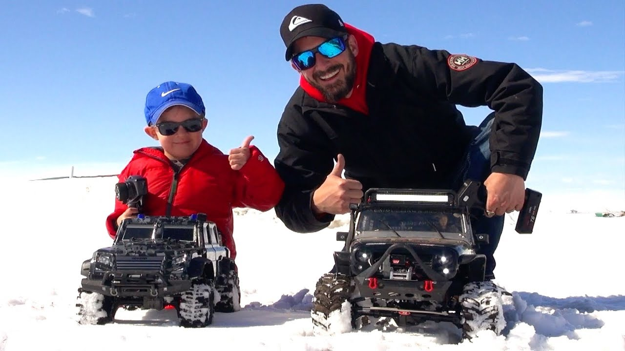 RC ABENTEUER – NEW Driver MOE Trails w/ Dad in SNOW! #ProudParenting – Traction & Traxxas