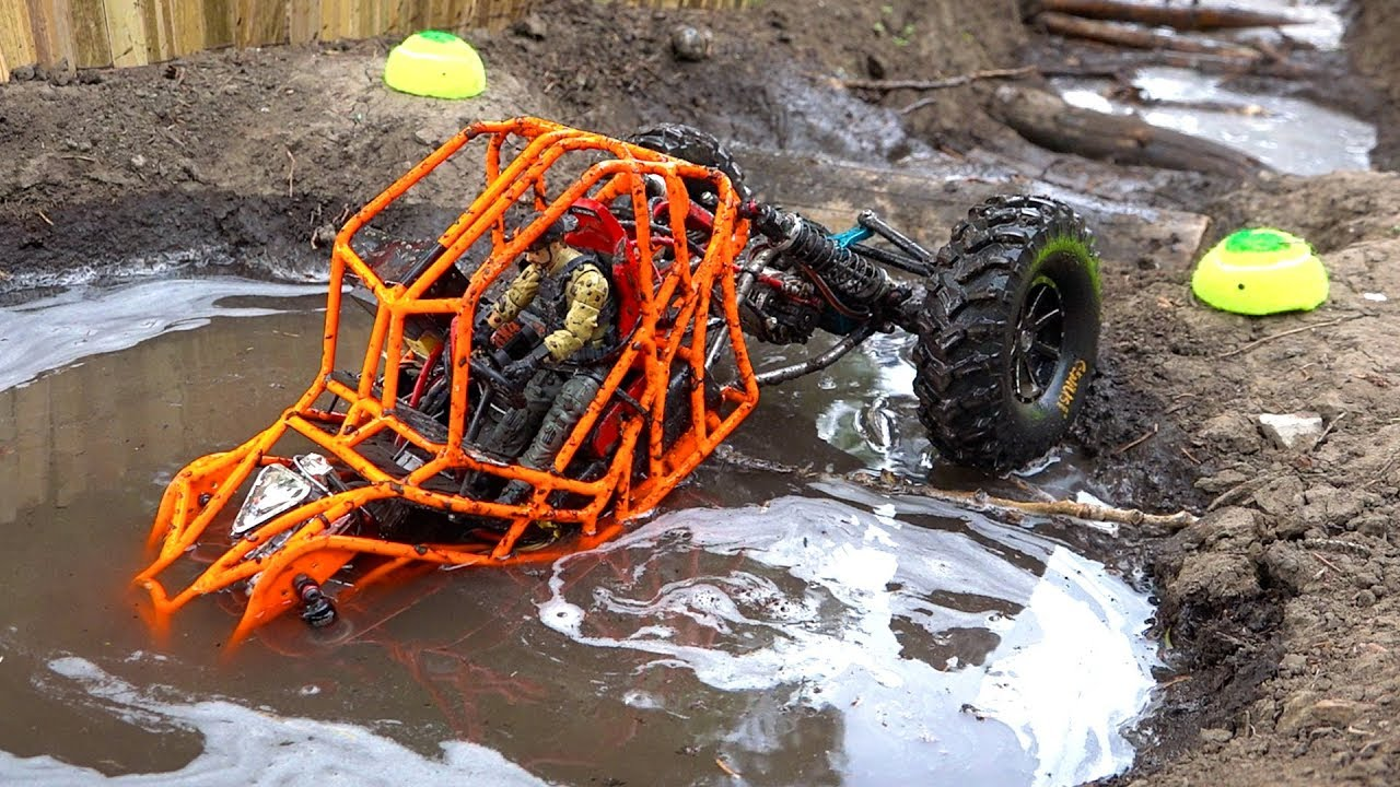 TANGO ROCK BOUNCER rips MUD on the Backyard Trail Course – NEON ORANGE MOA 4×4 | RC ADVENTURES