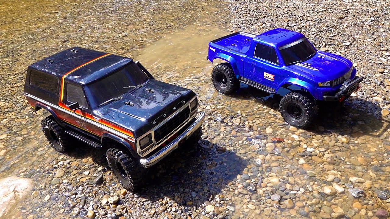 RC AVENTURI – NEW DRIVER MOE's 2nd Trail Run with DAD!  Bronco and Ranger..  Traxxas TRX4