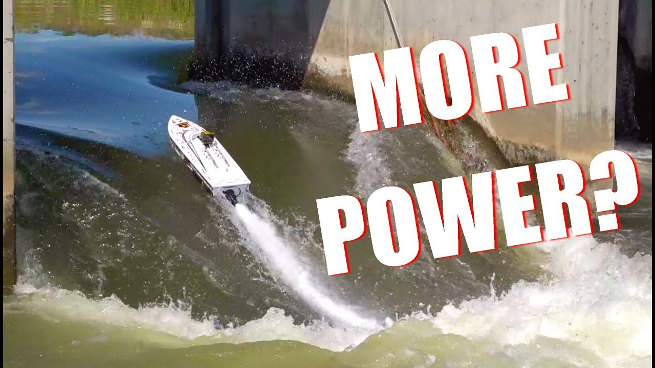 IS there MORE POWER?! Thrasher V3 TACKLES the DAM – Jet Boat Bashing! | RC EVENTYR