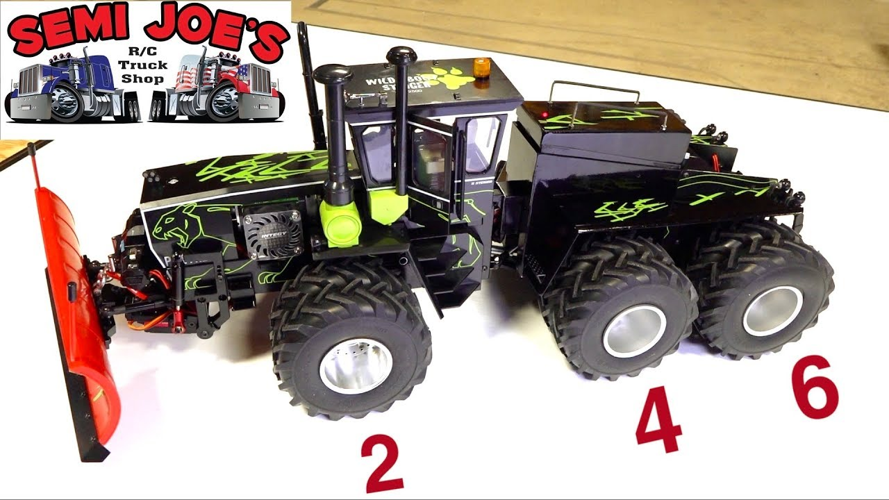 "RARE 12 TIRE 6X6 STIEGER PANTHER TRACTOR – TOY CONVERSION ""SEMI JOE TRUCK SHOP"" 