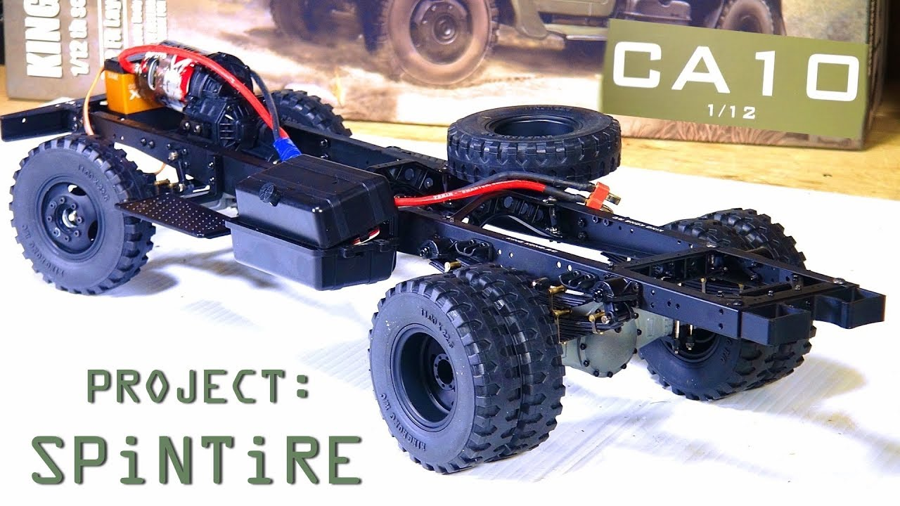 "AVENTURAS RC – Project: ""SPiNTiRE"" – Built a ROLLER in 20 Min – King Kong RC 1/12 CA10 Truck"