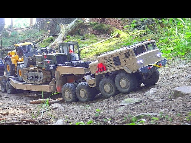 STRONG RC 8X8 MAMMOTH BC8! HEAVY TRANSPORTATION FROM BIG VEHICLES! RC CROSS VEHICLES WORK EXTREME
