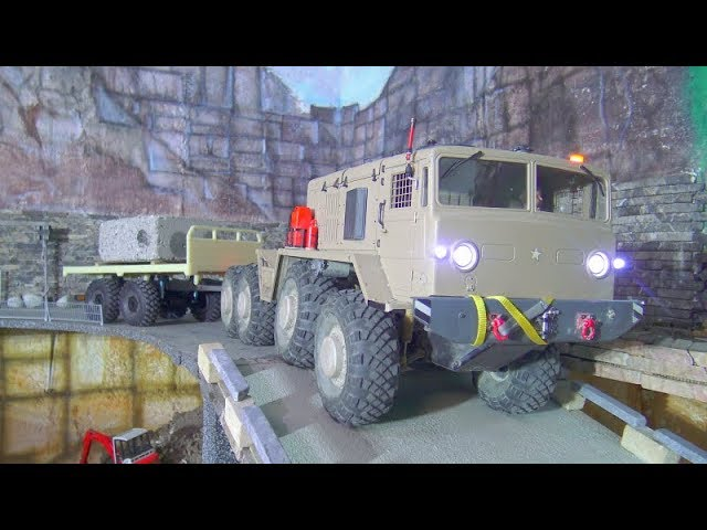 RC MAMMOTH MAZ 537 & NEW HYDRAULIC TRAILER! FANTASTIC CROSS RC VEHICLES SCALE 1:12 ! STRONG RC TOYS