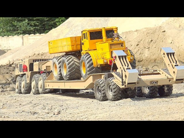 Maz 537 RC WITH T-247! HEAVY K-700 TRANSPORTATION! NEW TANDEM HYDRAULIC  TRAILER !RUSSIAN RC MODELS
