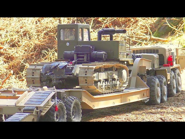 HEAVY RC WORK IN THE WOODS PART TWO! STRONG WINCH DOZER IN ACTION! MC6 MAN 6X6+