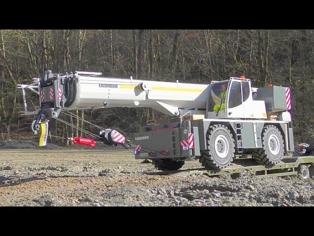 HEAVY RC EXCAVATOR CRASH! Liebherr 970 INCIDENTE! LRT 1100-2.1 CRANE TRUCK! Maz 537 ! KIROVETS K-700