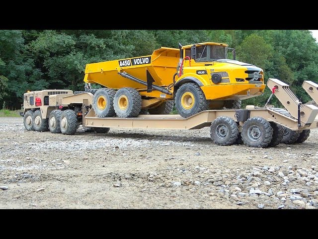VOLVO A45G IN DANGER! NAJVEĆI RC GRADILIŠTE! PIP-MAZ 537 Rc! T-247 TRAILER! HEAVY RC VEHICLES