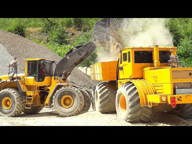 RC KIROVETS 6X6 WITH TURBO DIESEL AND BLACK SMOKE! VOLVO L250G SECIAL! DRY SAND AND 38° DEGREES