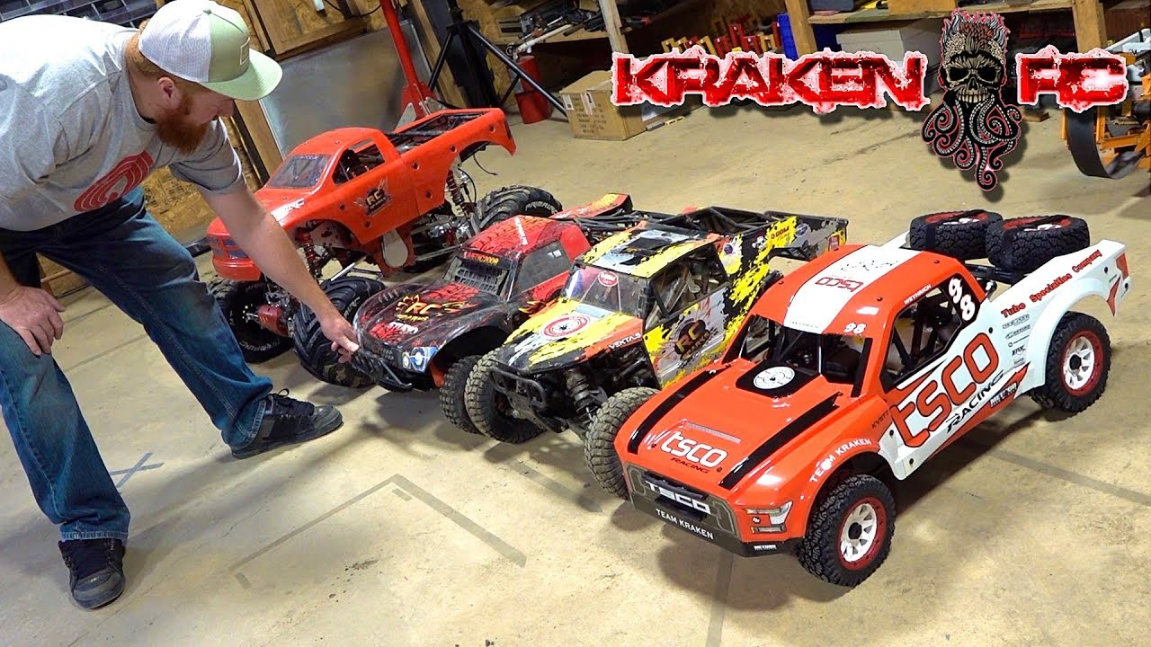FIRST USE of a HUGE TRUCK! KRAKEN KV5TT 29cc GAS POWERED RTR TSCO LARGE SCALE RACER | RC ADVENTURES