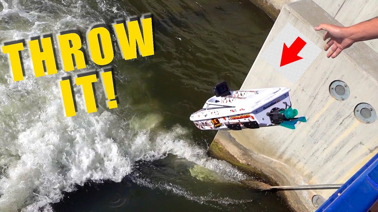I THREW A JET BOAT off a BRIDGE! STREAMLINE RC V3 THRASHER | RC ADVENTURES