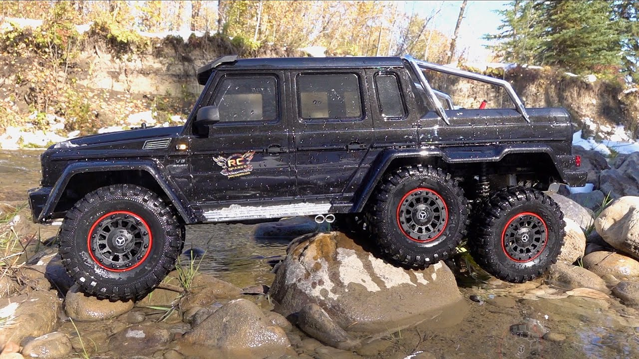 SPLASH TEST – Mercedes Benz G 63 AMG – 6×6 Traxxas TRX 6  | RC ADVENTURES