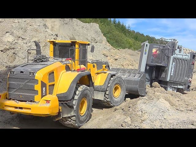 RC DUMP TRUCK CRASH! RC HD 405 CRASH WITH 40t LOADE! BIG RC CONSTRUCTION ACCIDENT! TRUCK RESCUE!