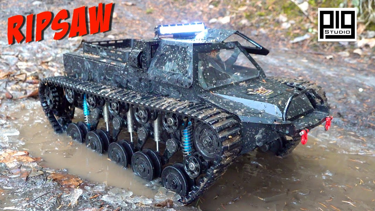 "WORLD'S MOST DESIRED ""RIPSAW"" EV1 1/10th SCALE LUXURY SUPER TANK GETS DIRTY! 