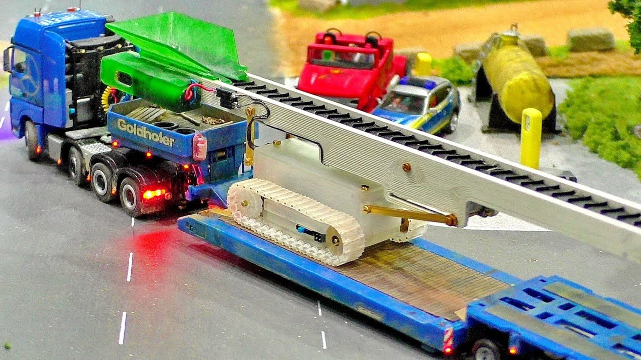 MINIATURE MICRO RC CONSTRUCTION SITE IN SCALE 1:87 WITH AMAZING FUNCTIONALITY MODELS IN MOTION