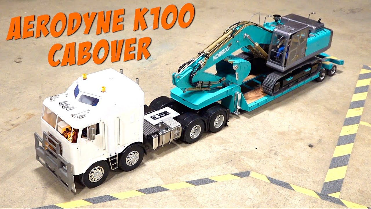 DOUBLE AXLE STEER KENWORTH K100 AERODYNE 8×4 CAB OVER TRUCK / BIG RIG | RC ADVENTURES