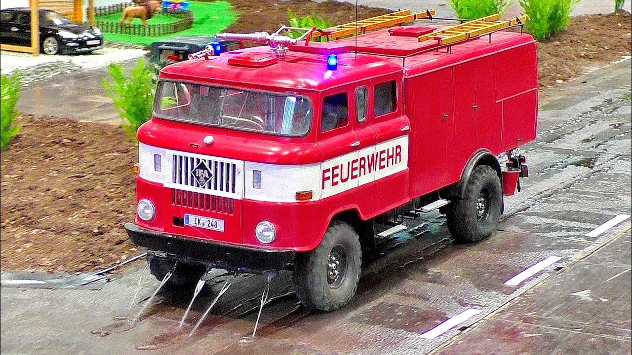 SPECTACULAR AMAZING !!! RC IFA W-50 SCALE 1:14 MODEL FIRE TRUCK WITH FASCINATING WATER FUNCTIONALITY