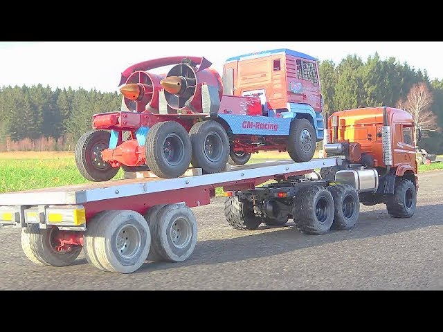 RC JET TRUCK FULL SPEED AT THE GERMAN AIRPORT! AMAZING TURBINE TRUCK! GERMAN AIRPORT! COOL RC
