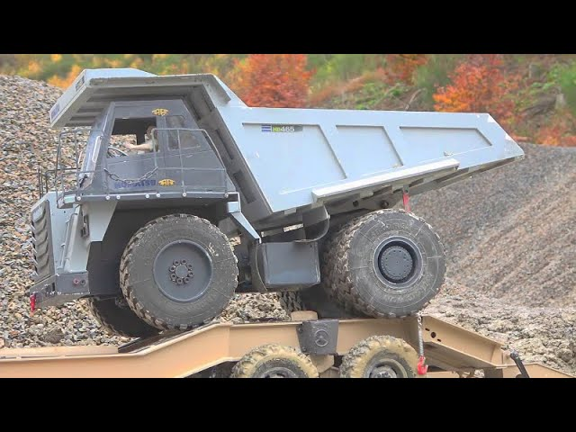 KOMATSU HD 405 4X4! SPECIAL RE-BUILD KOMATSU DUMP TRUCK! BIGGEST RC CONSTRUCTION SITE! MAZ 537 RC