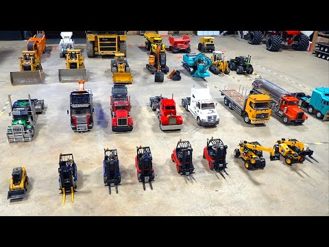 PART 2 – GIGANTIC MEGA RC COLLECTION: HAULERS, WRECKERS, GOLD MINING & LOADING | RC ADVENTURES