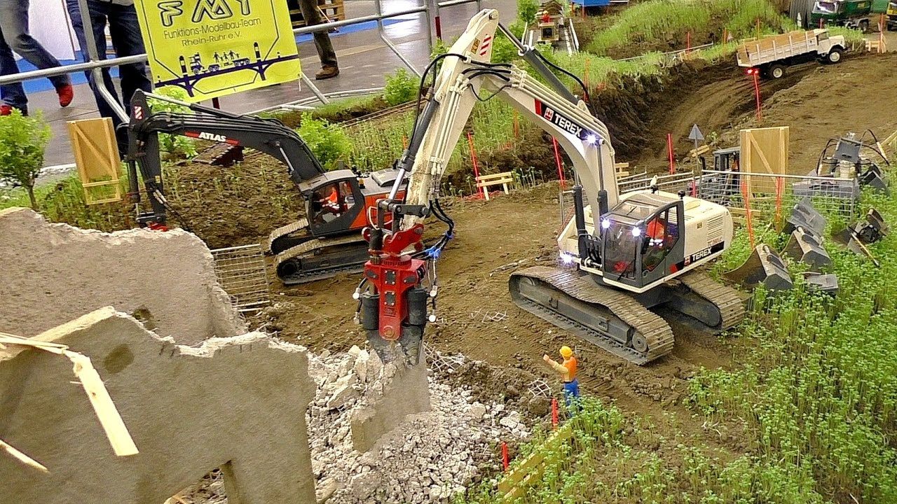 INCREDIBLE RC DEMOLITION WORK OF THE RC CONSTRUCTION SITE WITH EXCAVATOR TEREX TC-260LC