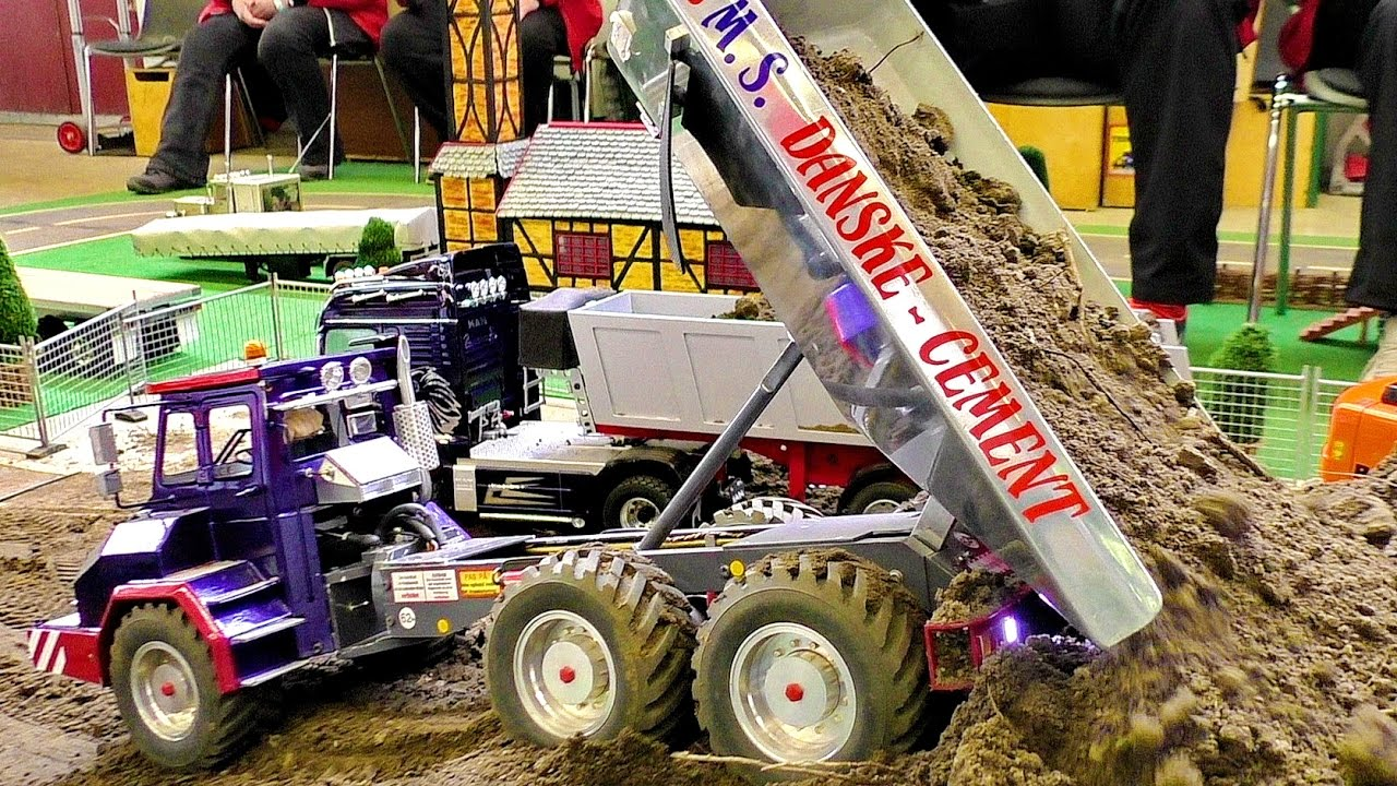 FANTASTIC RC CONSTRUCTION SITE IN SCALE 1:16 WITH AMAZING MODEL MACHINES